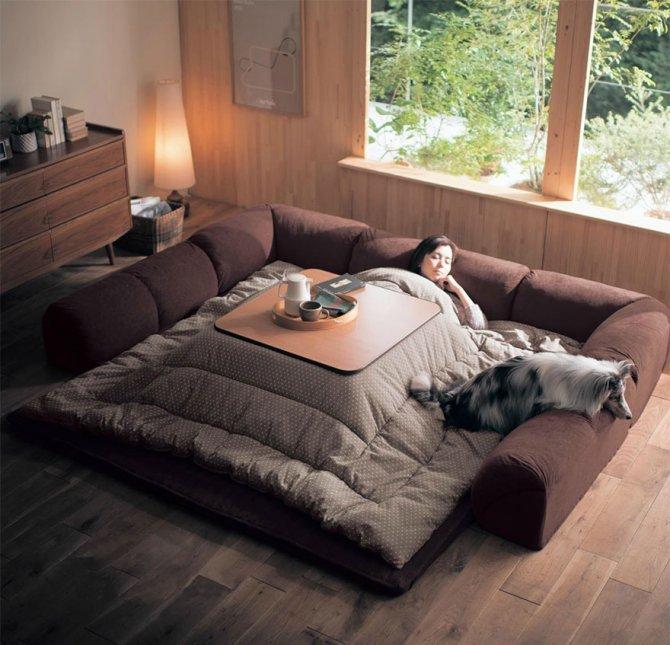 kotatsu japanese heating bed table 5