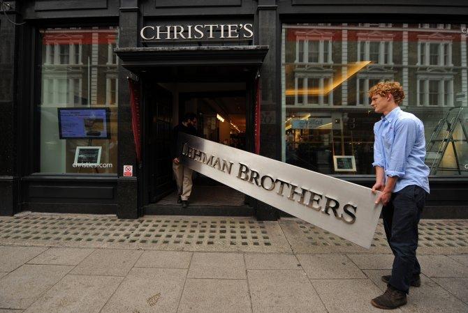 L'insegna Lehman Brothers all'asta da Christie's