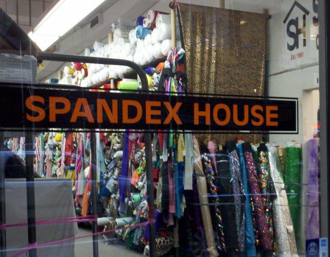 spandex house anni '80 tessuto