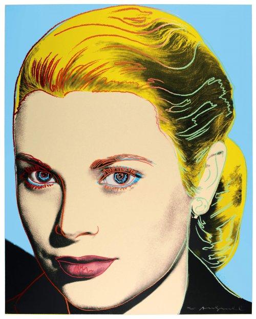 Grace ritratta da Andy Warhol, serigrafia, 1984