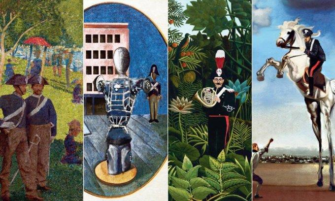 I carabinieri dentro i dipinti