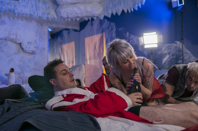 Andrea Diprè con Denise Odorico sul set del suo prossimo video natalizio - foto: Gabriele Ferraresi