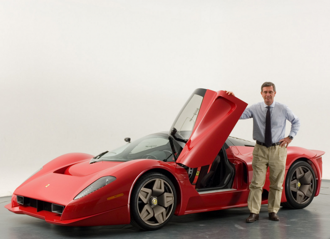 La Ferrari P 4/5 e Andrea Pininfarina.