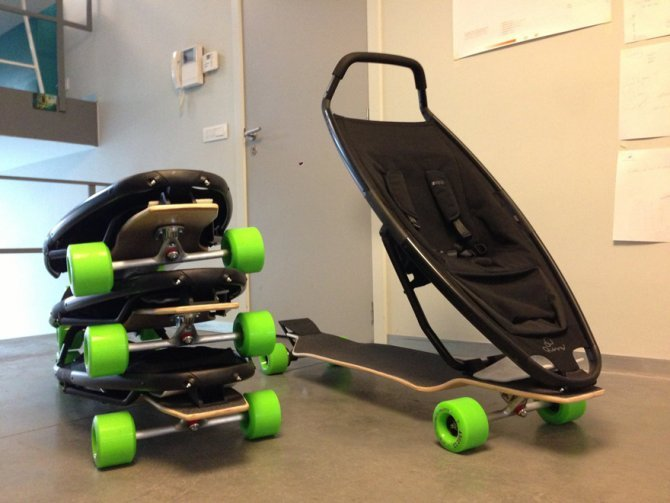baby carriage longboard stroller quinny 14
