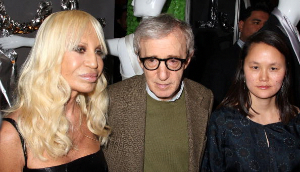 NEW YORK - MARCH 18: (L-R) Donatella Versace, Woody Allen and Soon-Yi Previn attend the Barney's New York launch of Versace menswear on March 18, 2008 in New York City. (Photo by Andrew H. Walker/Getty Images)