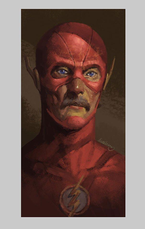old superhero paintings eddie liu 2