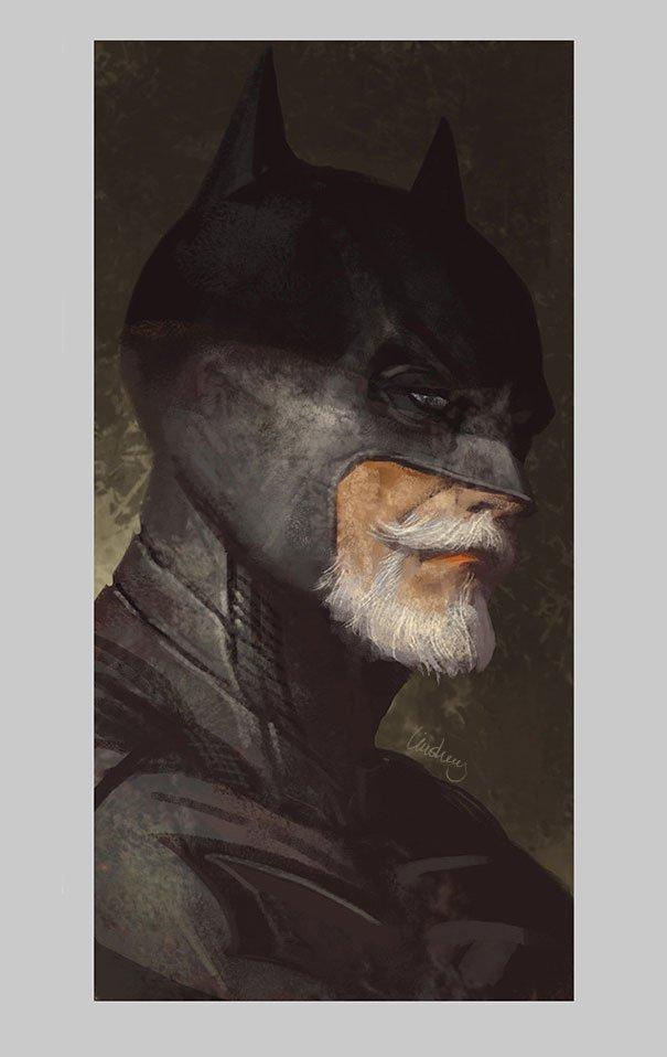 old superhero paintings eddie liu 3
