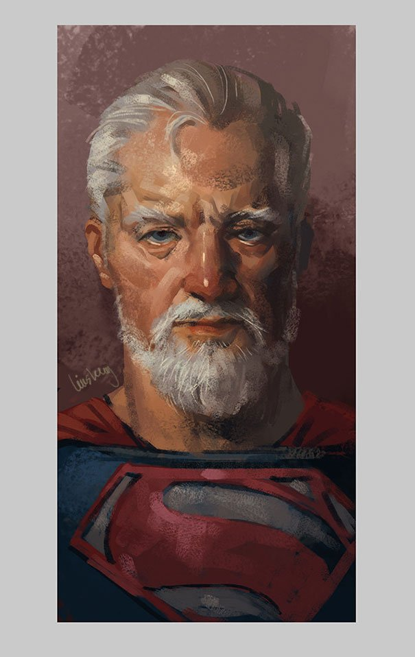 old superhero paintings eddie liu 4