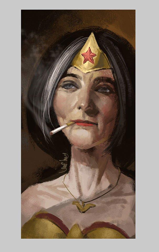 old superhero paintings eddie liu 5