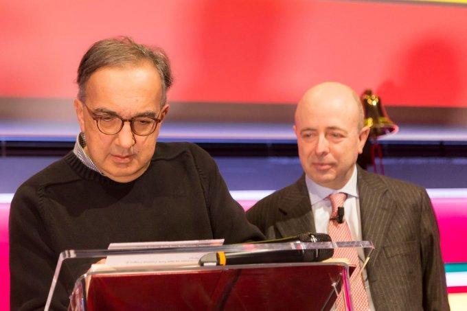 Sergio Marchionne oggi a piazza Affari