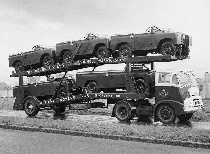 Una bisarca di Land Rover nel 1959