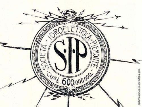 Il logo della Sip (Società Idroelettrica Piemonte) come si presenta nella relazione di bilancio del Gruppo nel 1927