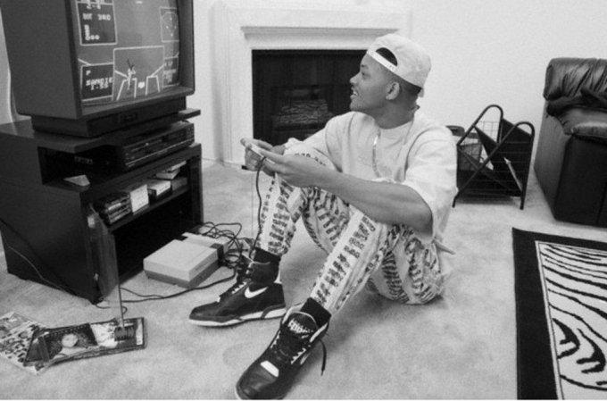 Will Smith che gioca al Nintendo negli anni 90