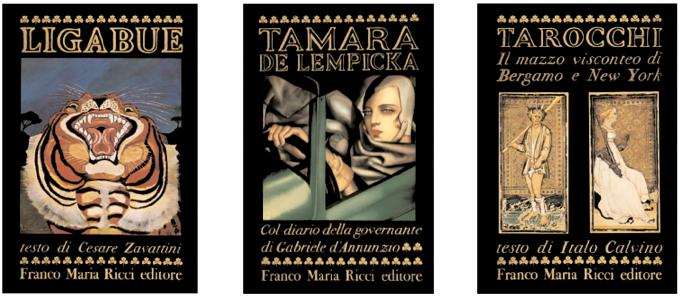 Alcuni volumi pubblicati Franco Maria Ricci Editore.