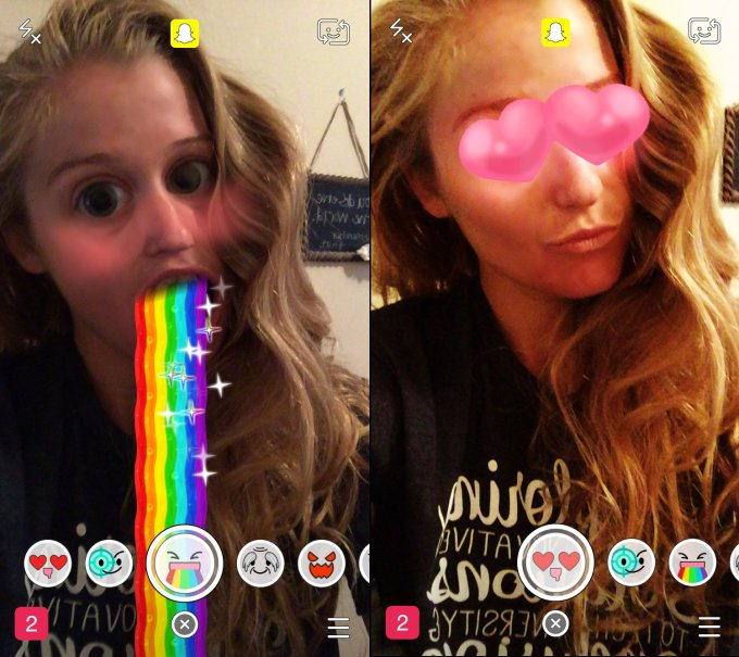 Selfie buffi (in video) con i filtri di Snapchat