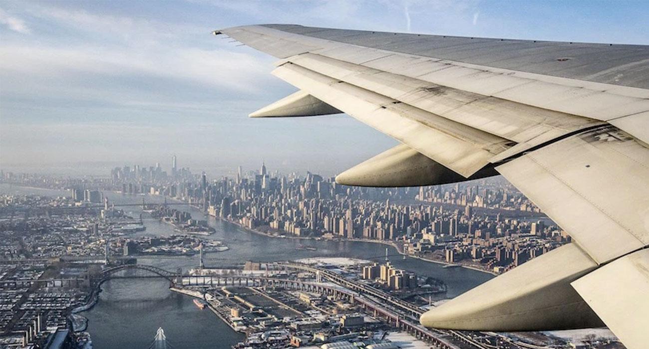 Un bel po' di foto spettacolari dal finestrino dell'aereo