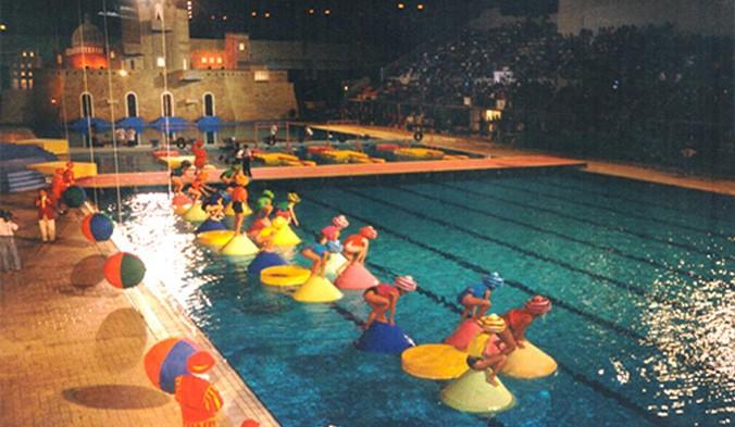 Un momento dell'edizione 1994 di Giochi senza Frontiere