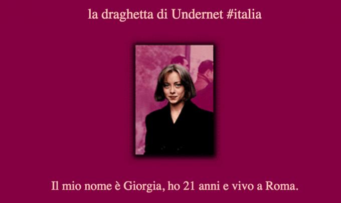 Giorgia Meloni, la draghetta di Undernet. Nel 1998