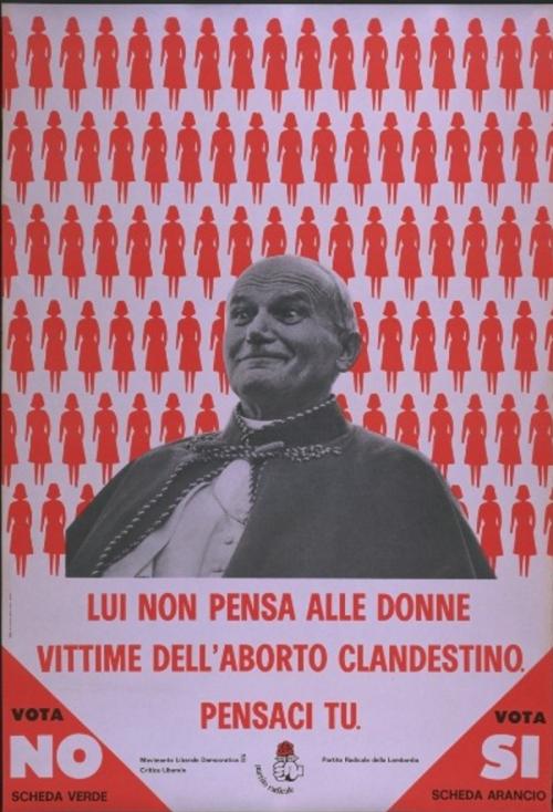 Un manifesto dei Radicali all'epoca del referendum del 1981.