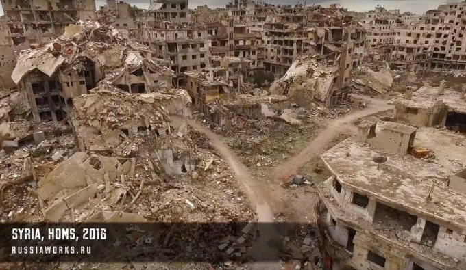 Homs, la città vista dal drone di RussiaWorks
