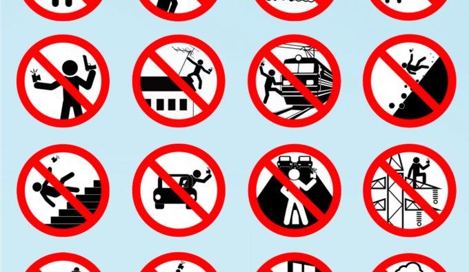 Una preziosa guida a dove non farsi selfie, prodotta dal Ministero degli Interni russo