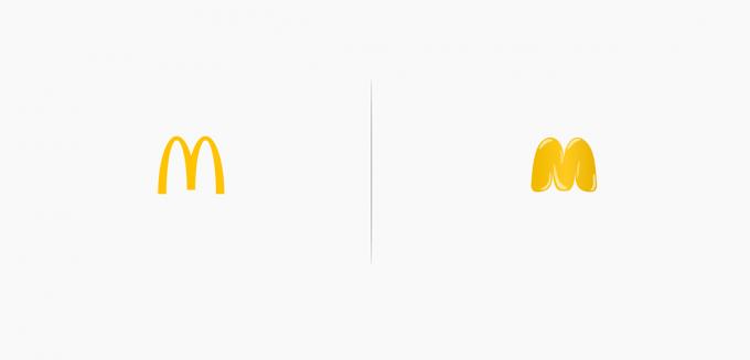 In effetti la M è un po' troppo esile rispetto alla cucina che propongono da McDonald's