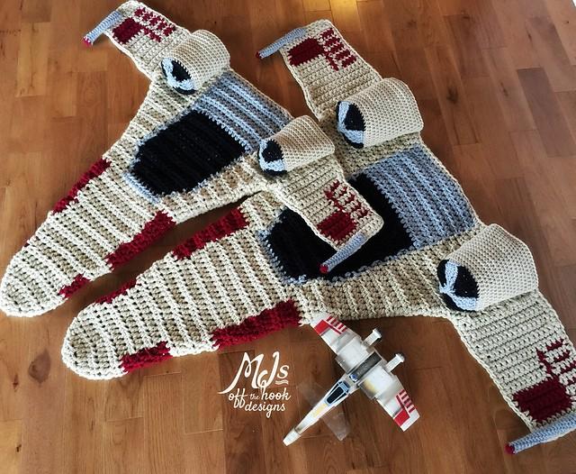 astronave di Star Wars con la lana