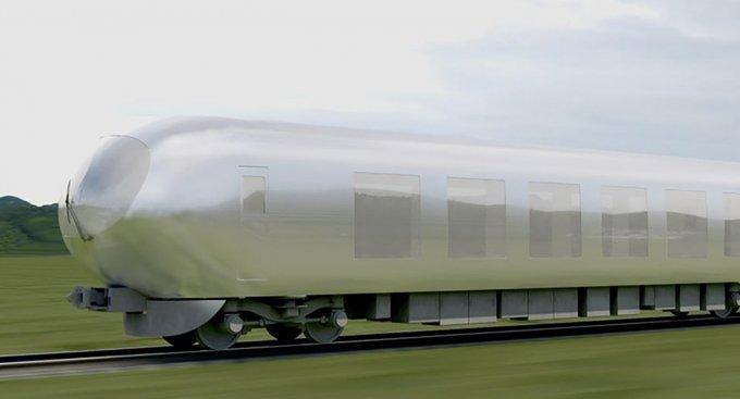Giappone treno riflette esterno paesaggio