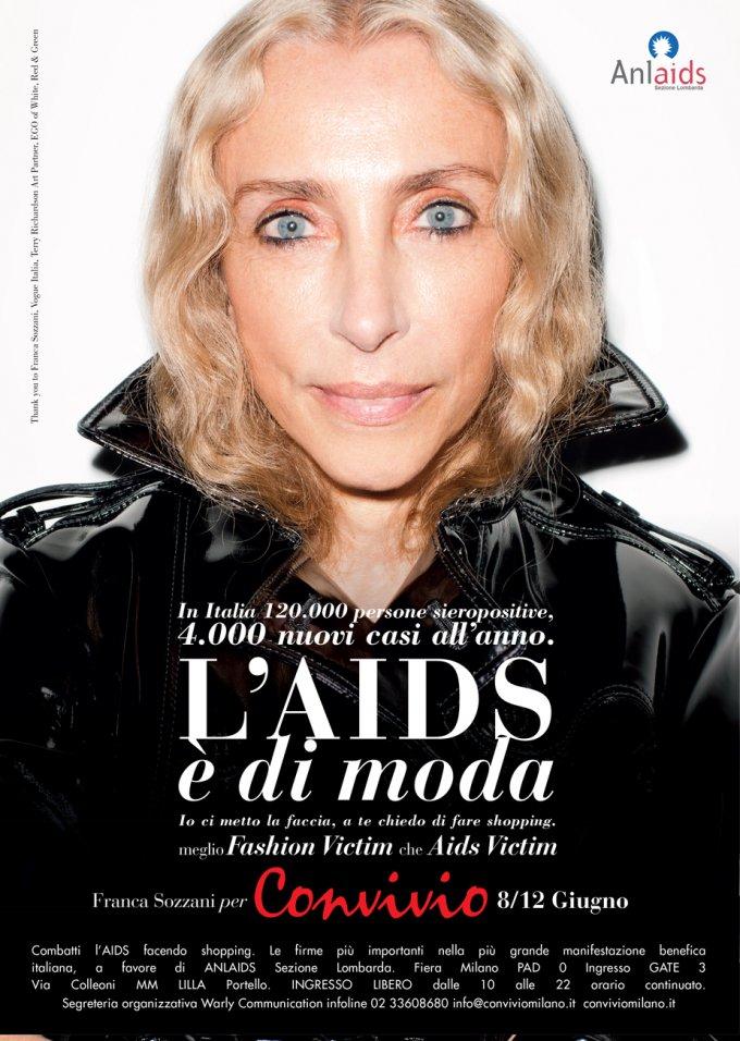 aids moda franca sozzani convivio