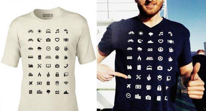 magliette imparare lingue simboli