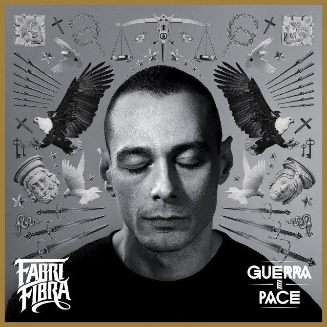 """La bellissima copertina realizzata da Corrado Grilli aka Mecna per """"Guerra e Pace"""" di Fabri Fibra"""