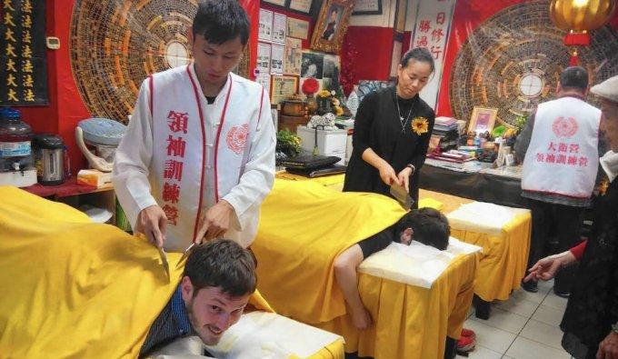 massaggio con mannaia