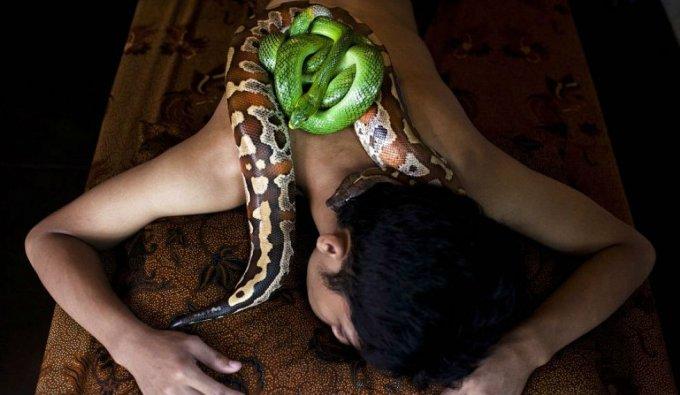 massaggio serpente