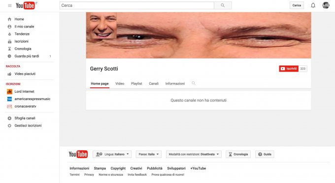 canale youtube gerry scotti