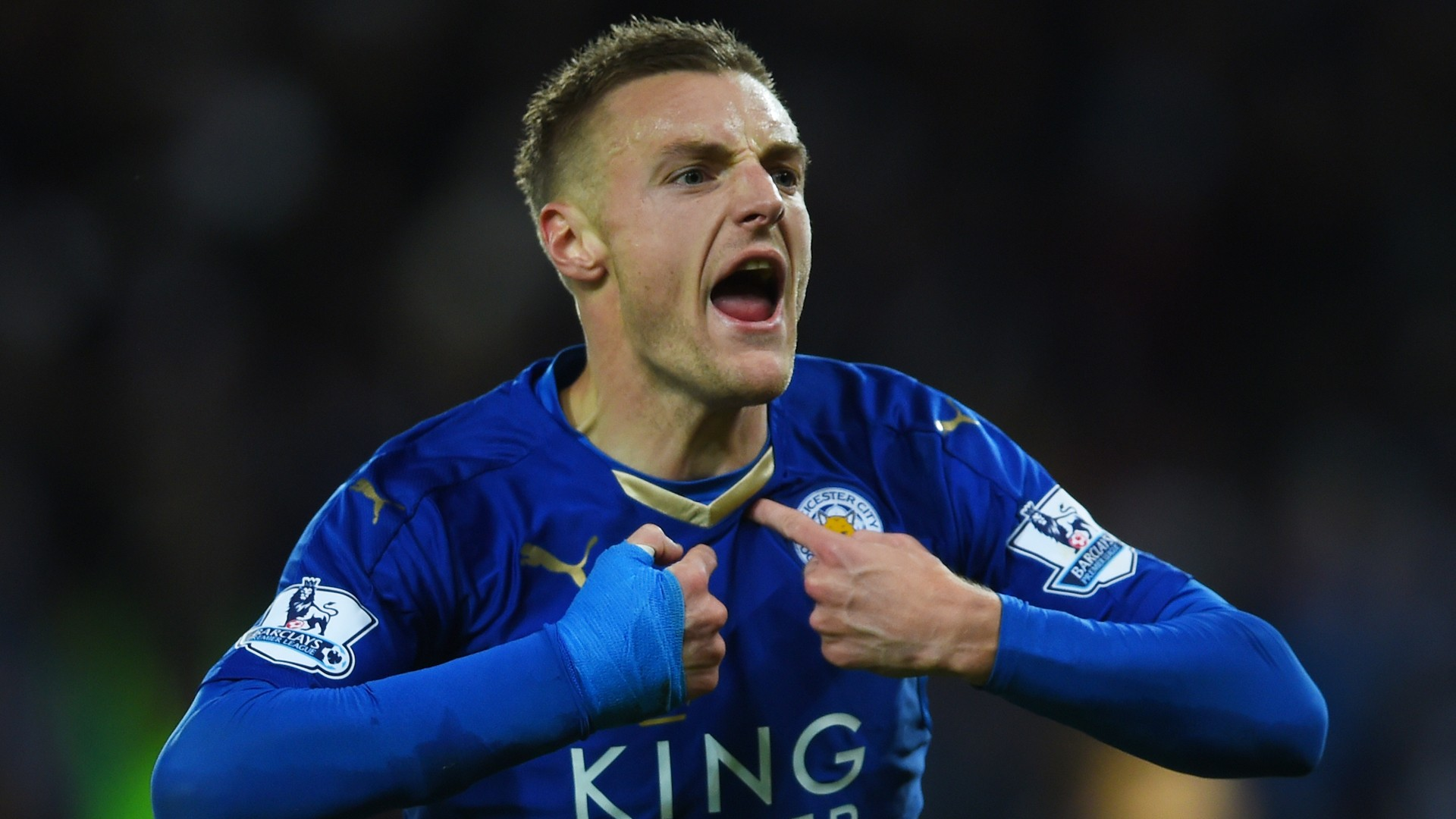 L'attaccante del Leicester Jamie Vardy