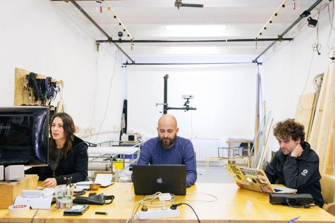Germaine Colajanni, Andrea Ceccarelli, Alessandro Inguglia nello studio di Recipient - La fantasia prende vita nello studio di Recipient - Foto: Mattia Buffoli