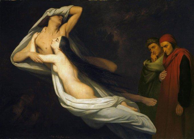 Paolo e Francesca, Ary Scheffer, 1835