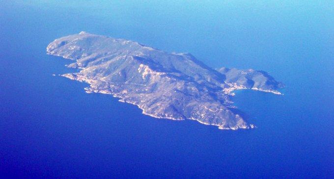 Veduta area dell'Isola del Giglio