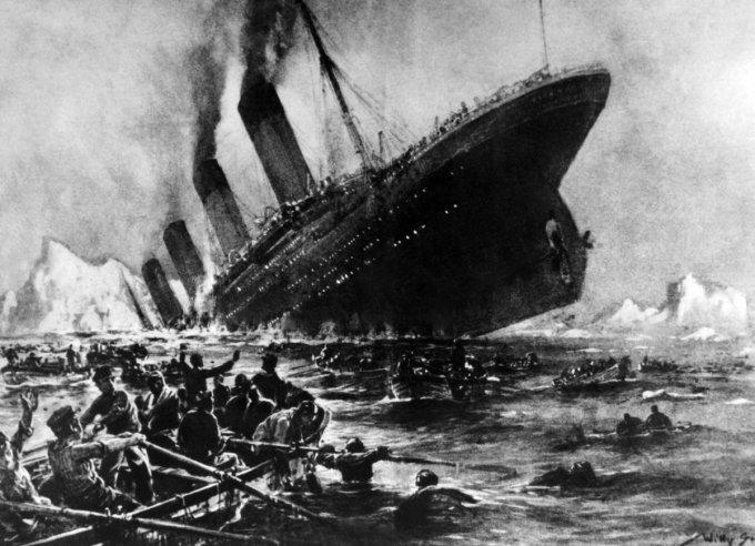 L'affondamento del Titanic in una illustrazione d'epoca
