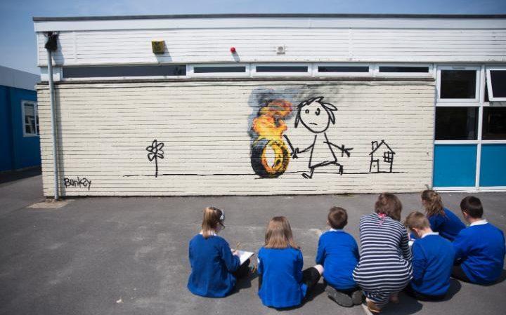 Bristol scuola Banksy
