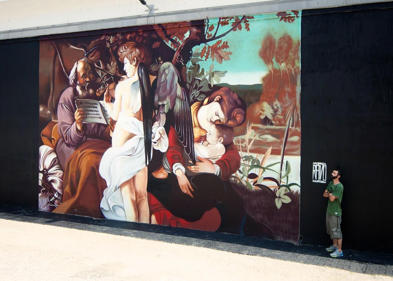 Andrea Ravo Mattoni e il Caravaggio a Malpensa
