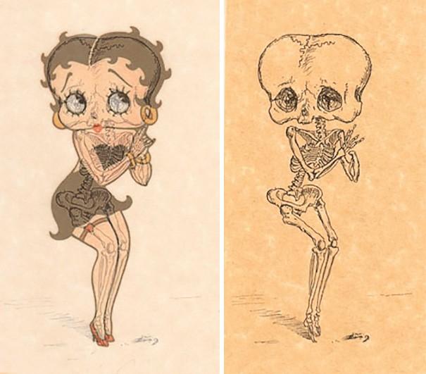 cartoni animati scheletro
