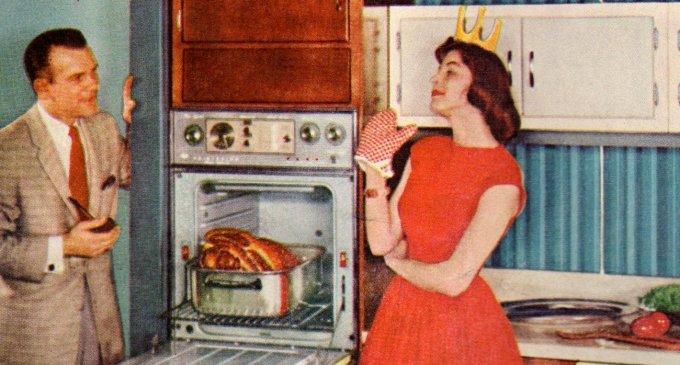 Magari aggiornando un po' di cose rispetto all'immagine, ma pare che il lavoro casalingo dia la felicità