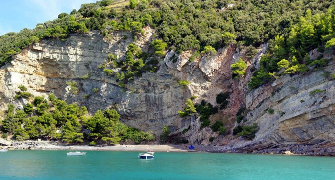 La spiaggia del Pozzale a Palmaria