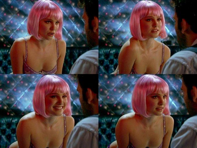 Natalie Portman in un collage da Closer, di Mike Nichols (2004)
