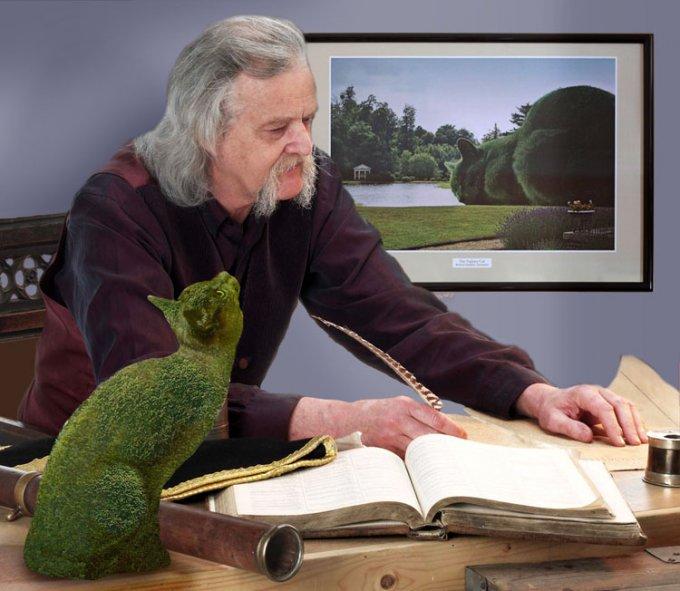 Il commovente omaggio di un artista inglese al suo gatto che non c'è più