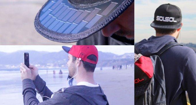cappello ricarica smartphone