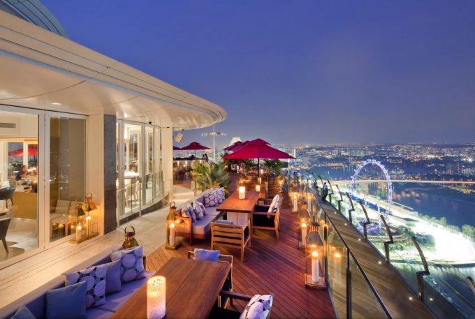 Il panorama dal ristorante