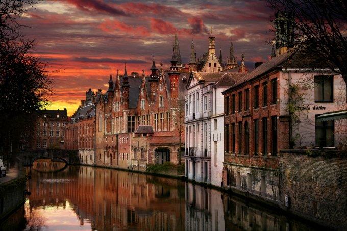 Una splendida vista di Bruges