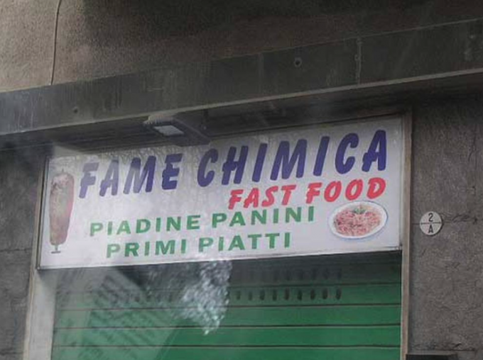 Fame Chimica fast food